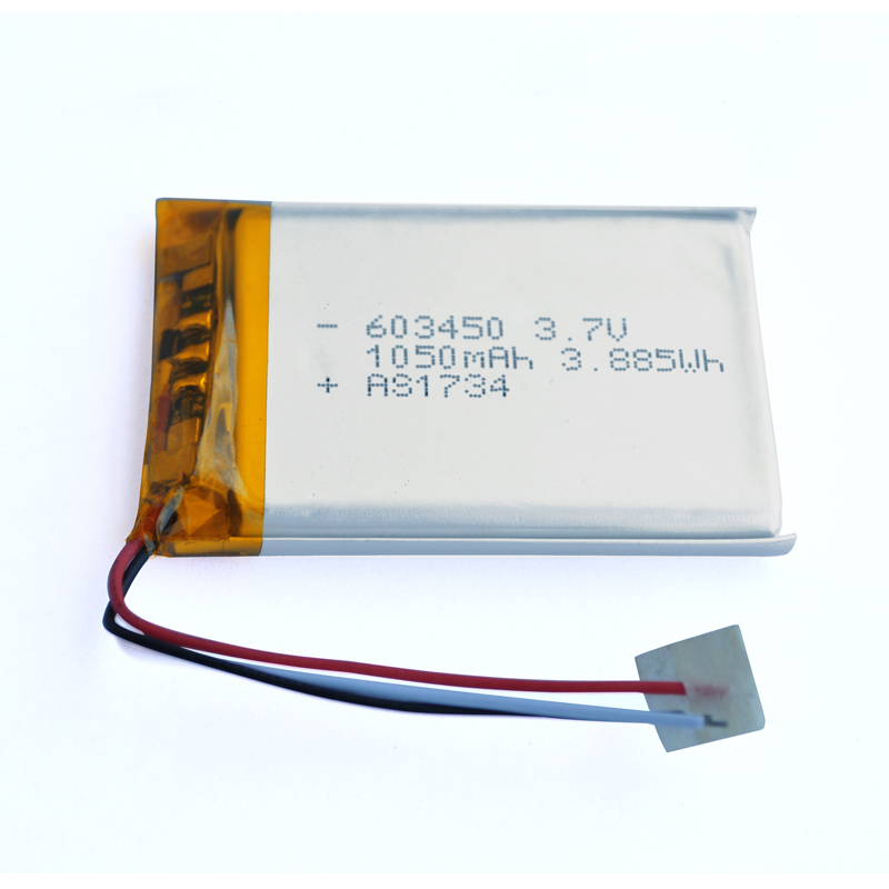 603450 3.7v 1050mAh lithium ion polymer battery with UL/CB/KC certificates