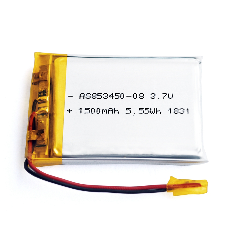 AS853450 Lipo battery 3.7v 1500mAh Lithium polymer battery with UL/IEC62133/KC/UN38.3 Certificates