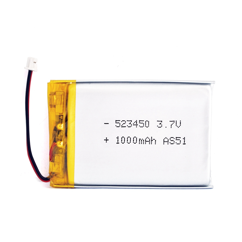 Rechargeable AS523450 3.7V 1000mAh Lipo battery with UL certificate