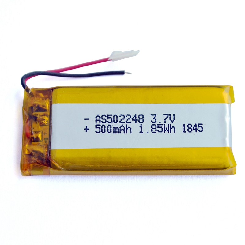 Rechargeable 502248 3.7v 500mAh Lithium polymer battery