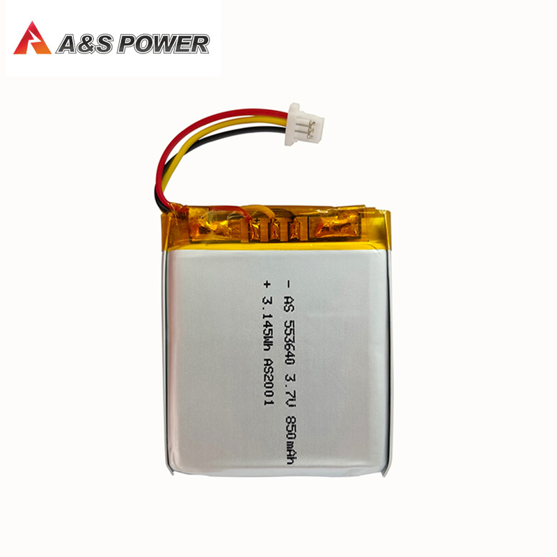 UL2054/CB/KC approval 553640 3.7v 850mah Lithium polymer battery