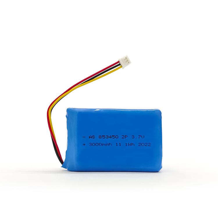 853450 2p 3.7v 3000mah lipo battery with UL2054/un38.3 certificate