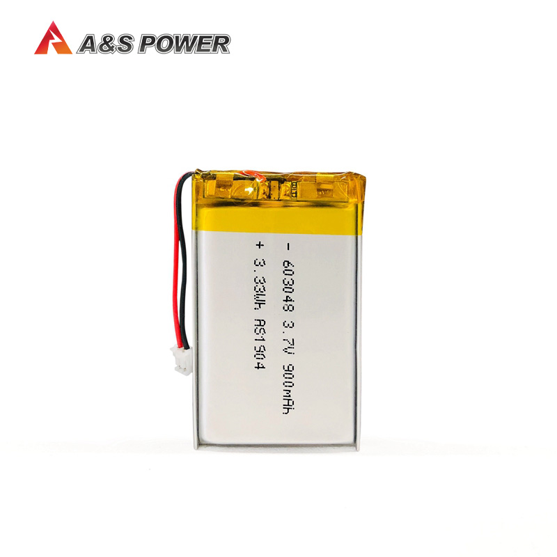 UL/KC approval 603048 3.7v 900mah lithium polymer battery