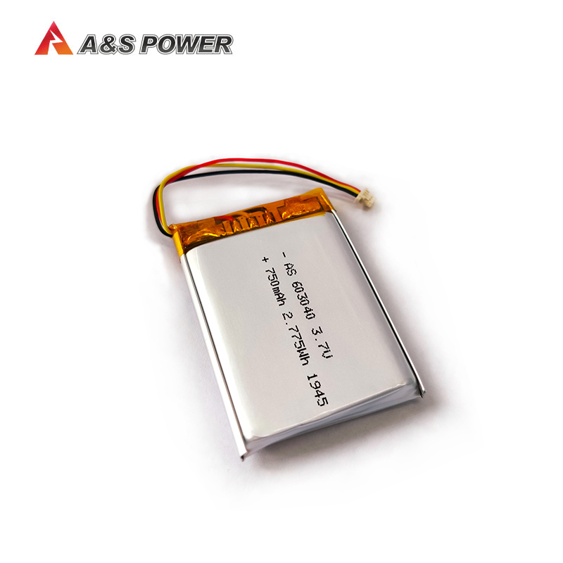 UL1642/KC/UN38.3/WERCS approved 603040 3.7v 750mah lithium polymer battery
