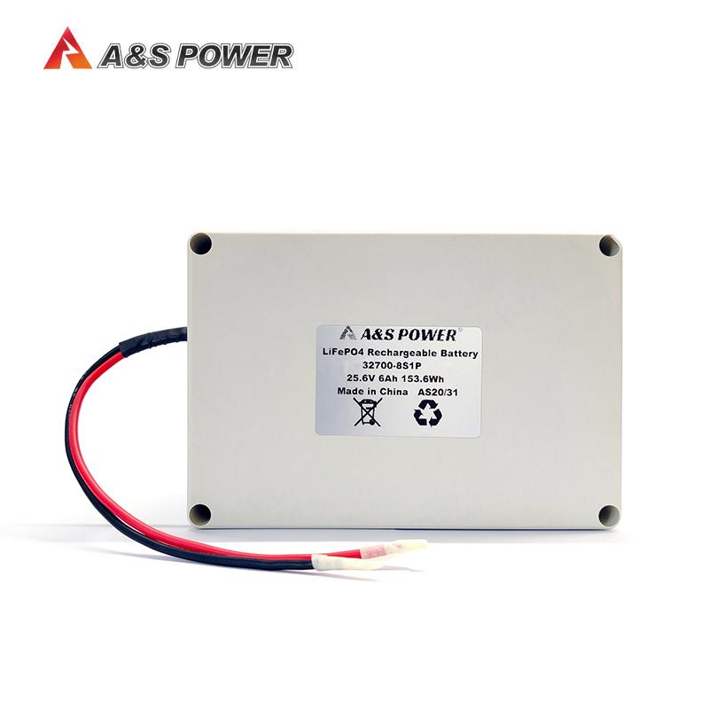 32700 25.6v 6ah lifepo4 battery pack