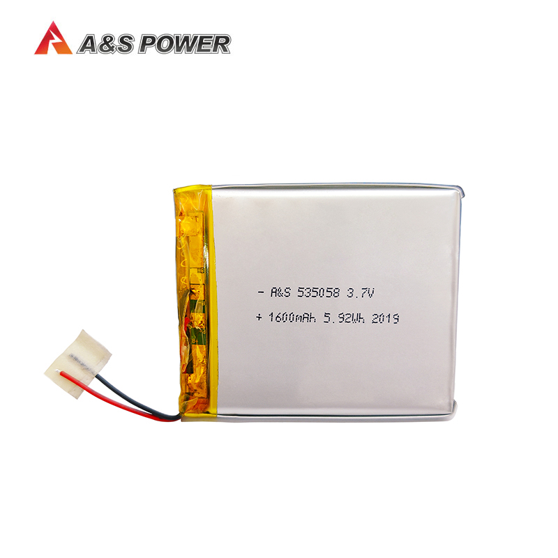 UL1642 approval 5350587 3.7v 1600mah lithium polymer battery