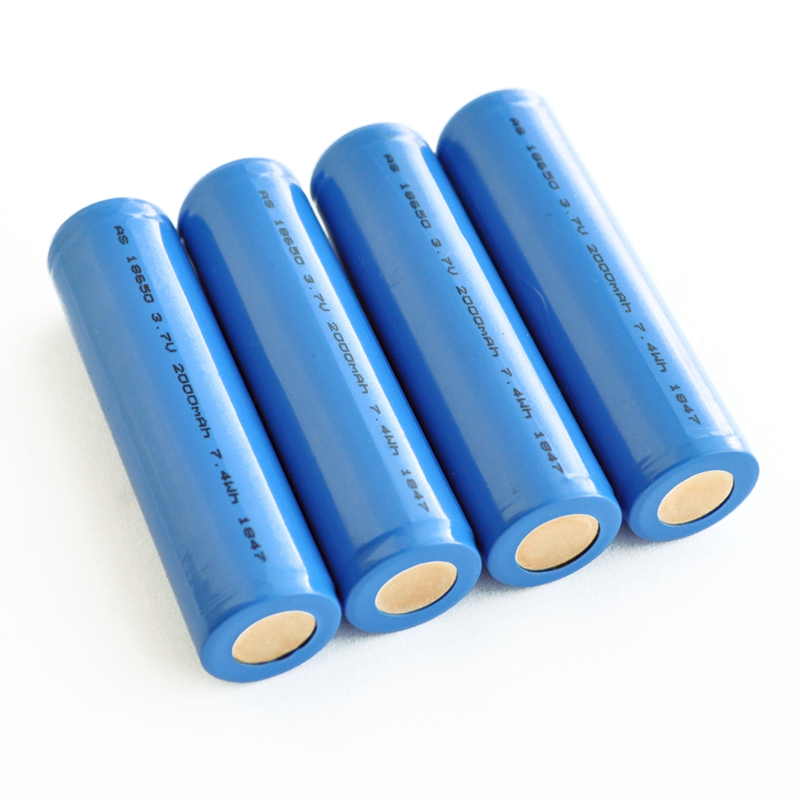 Rechargeable 18650 3.7v 2000mah li ion battery cell