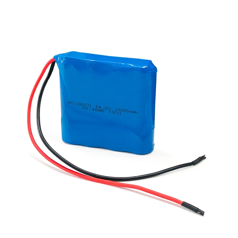 Rechargeable 18650 4S1P pack 14.8V 2600mah lithium battery