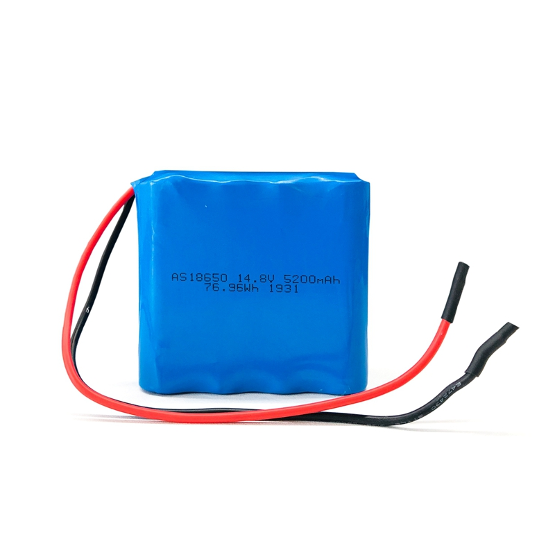 Factory 18650 4S2P battery pack 14.8v 5200mah lithium ion battery