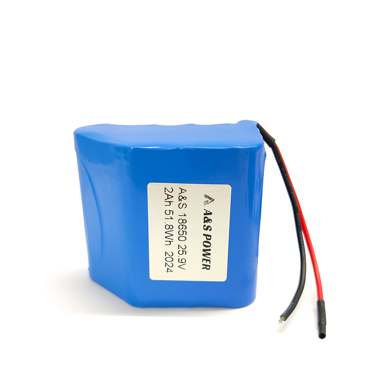 Wholesales 24v 25.9v 2Ah 18650 lithium battery pack li-ion battery
