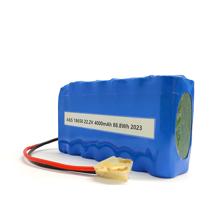 CB/UN38.3 18650 6S2P lithium ion battery pack 22.2v 4Ah li ion battery
